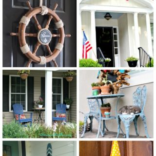 I love the wreaths here and the simple ideas! 13 Ideas for Sprucing Up Your Front Door and Entry