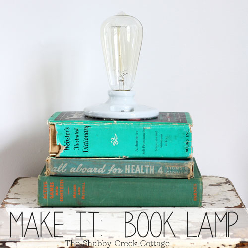 DIY Lamp made from books