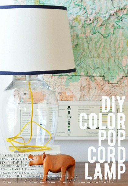Lamp Ideas - Paint the cord for a pop of color.