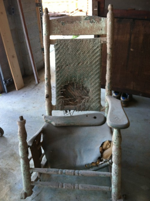 Restored Rocking Chair {rainonatinroof.com} #rockingchair