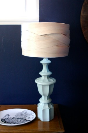 Lampshade Ideas - lampshade made from balsa wood.
