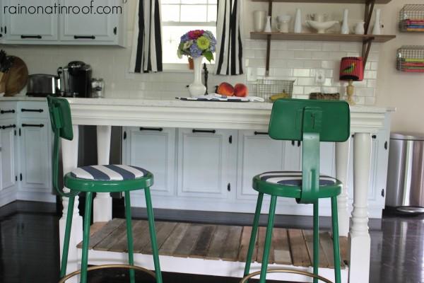 DIY Kitchen Island via RainonaTinRoof.com #kitchenisland #diy
