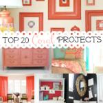Top 20 Coral Projects & Ideas {rainonatinroof.com} #coral #diy #project #idea