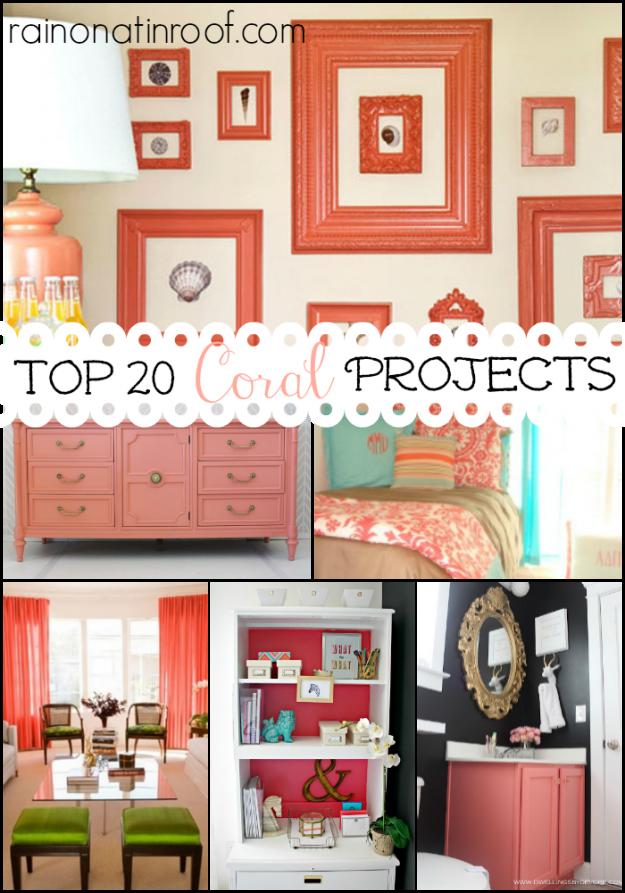 Coral Decor | Coral Decorating Ideas | Coral Bedroom | Coral Bathroom | Coral Living Room | Coral DIY Decor