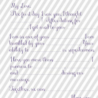 Wedding Vow Mad Libs