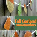 Fall Garland {rainonatinroof.com} #fall #fallgarland #glitter