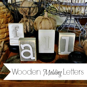 Trash to Treasure Wooden Molding Letters