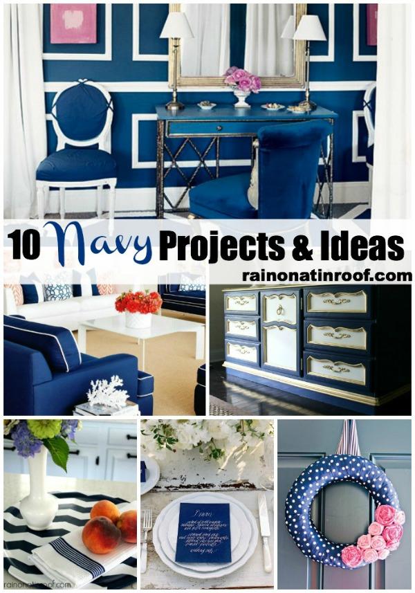 10 Navy Projects and Ideas {rainonatinroof.com}  #navy #diy