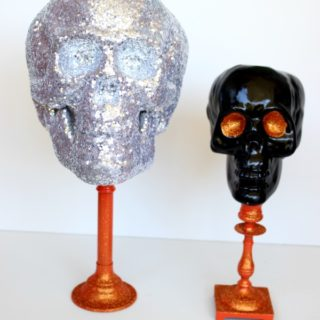 Dollar Tree Skull Upcycle {rainonatinroof.com} #halloween #upcycle #skull