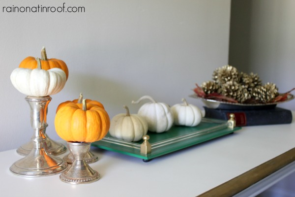 Simple Fall Decorating {rainonatinroof.com} #simple #fall