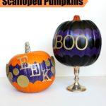 Scalloped Pumpkins {rainonatinroof.com} #frogtape #pumpkins #halloween #shapetape