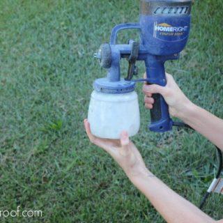 How to Clean the HomeRight Finish Max Paint Sprayer via rainonatinroof.com #homeright #finishmax #paintsprayer