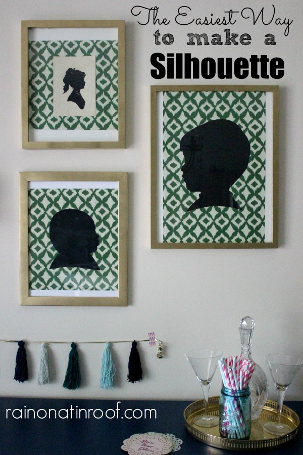 DIY Silhouette Wall Art - an easy way to make your own silhouette art.