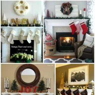 Christmas Mantel Decorating via RainonaTinRoof.com