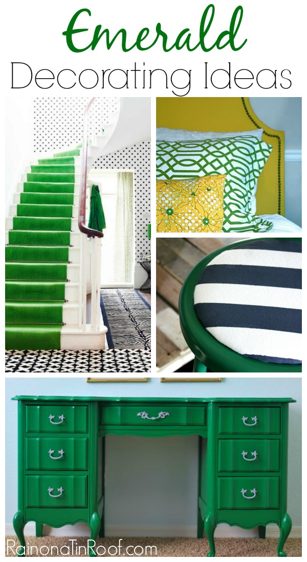 Love green - it can go with so many other colors! Emerald Green Decorating Ideas