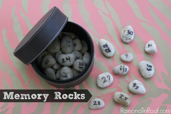 Memory Rocks via RainonaTinRoof.com