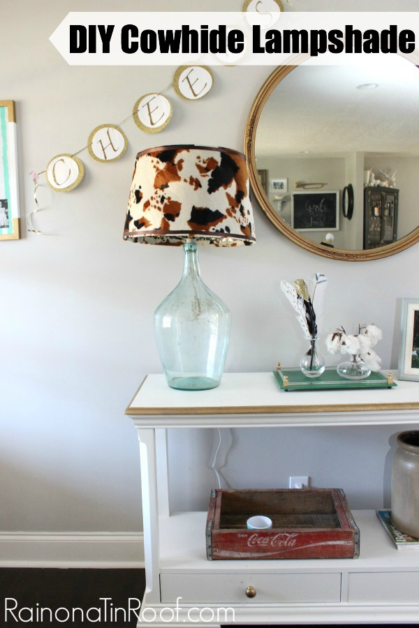 DIY Cowhide Lampshade Idea