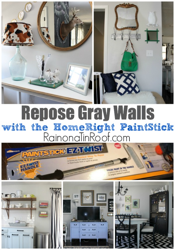 Sherwin Williams Repose Gray Walls + The Easiest Way to Paint a Room