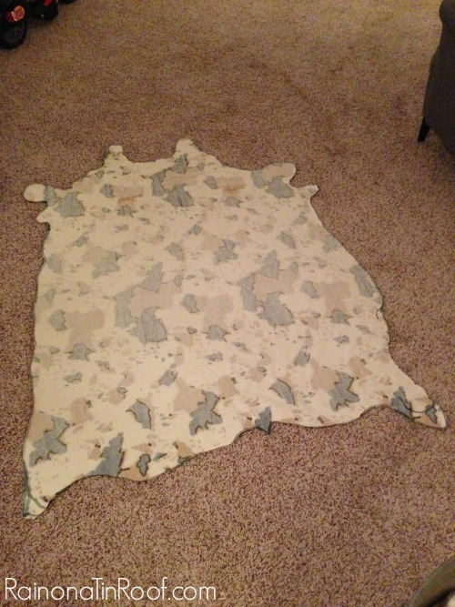 Cowhide Fabric for Faux Cowhide Rug - Cut Out