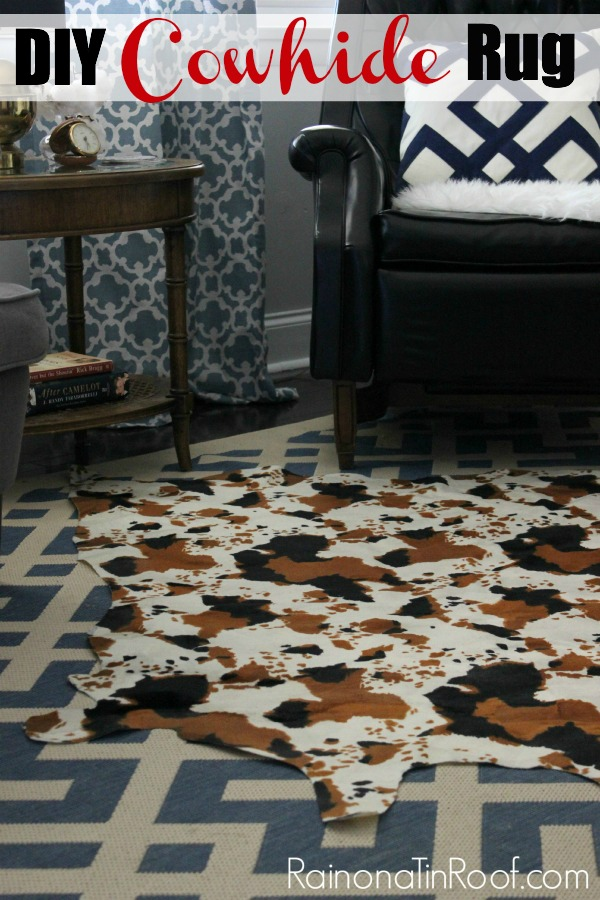 DIY Cowhide Rug (No Painting Required!)