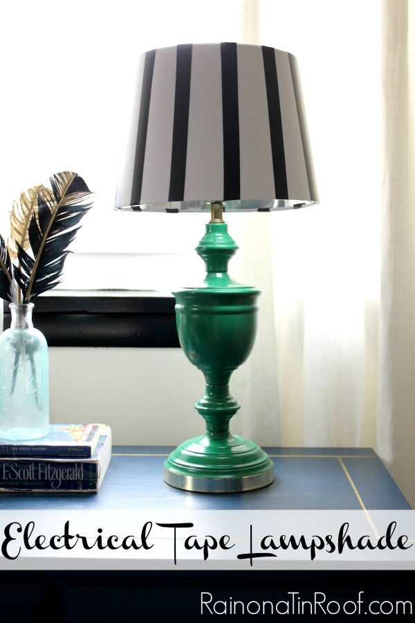 Electrical Tape Lampshade Idea