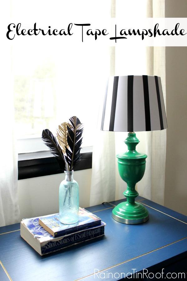 DIY Electrical Tape Lampshade | DIY Lampshade | DIY Lampshade Ideas | DIY Lampshade Makeover | Lampshade Makeover