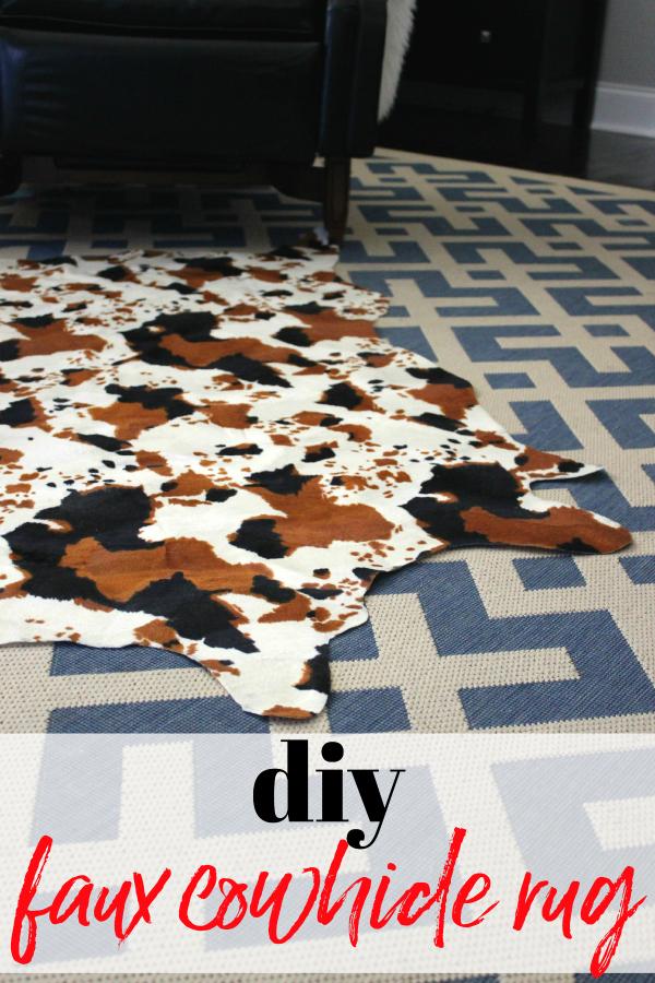 DIY Cow Print Rug Tutorial