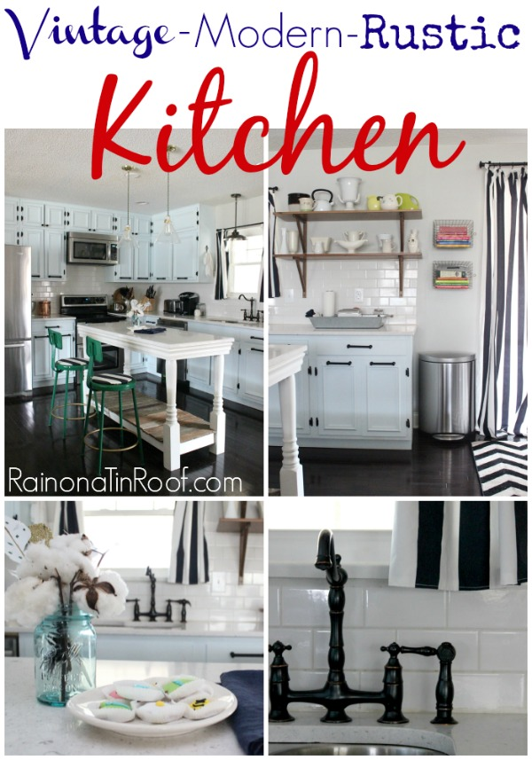 Rustic Kitchen | White Kitchen | Kitchen Remodel | Kitchen Ideas | DIY Kitchen Ideas | Painted Kitchen Cabinets | DIY Kitchen Island