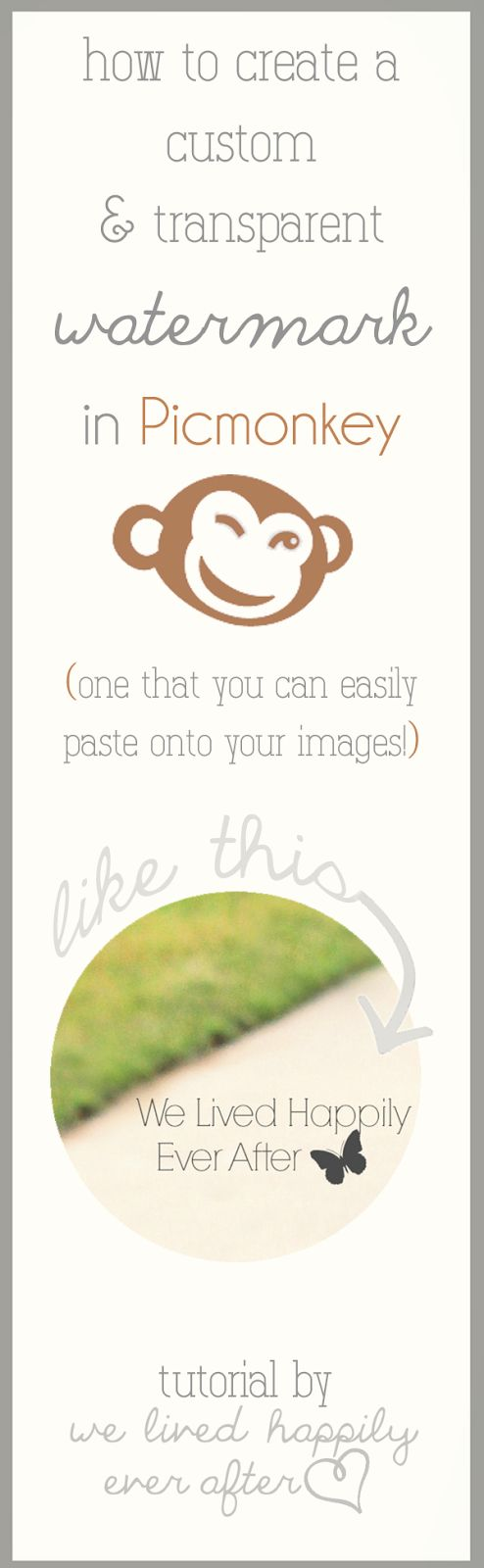 Picmonkey tutorial for creating watermarks