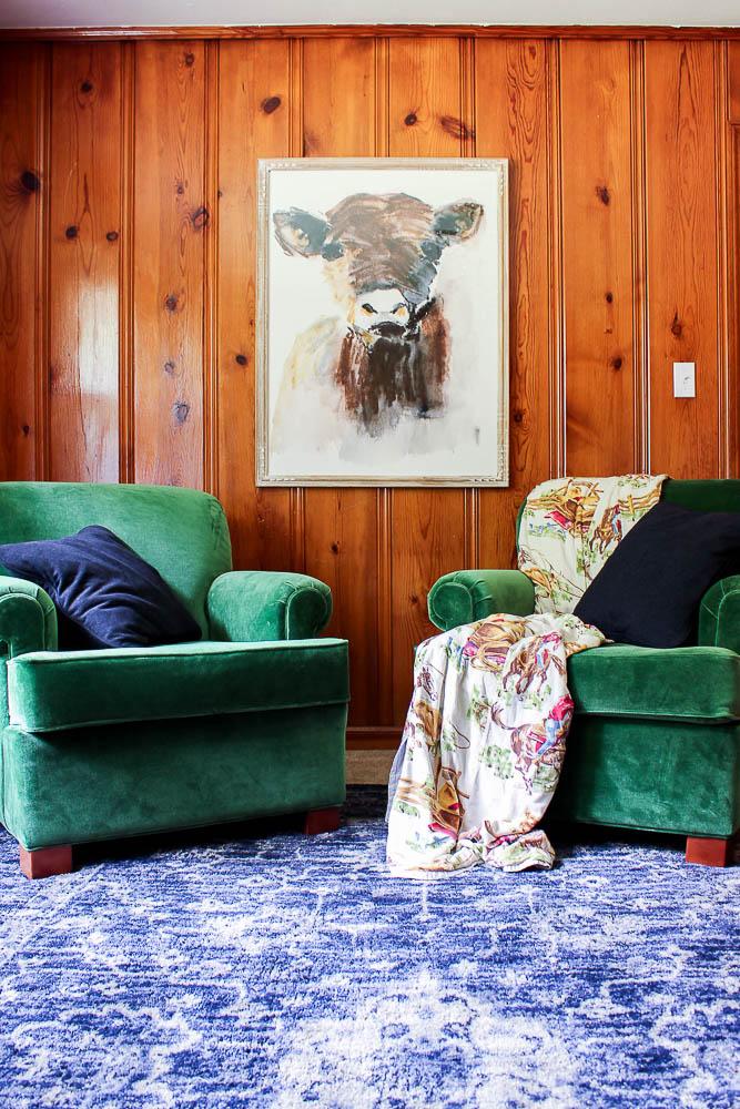 Living Room Ideas - Knotty Pine Paneling