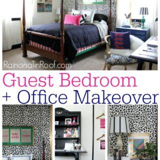 Guest Bedroom + Office Reveal {Guest Bedroom Ideas} via RainonaTinRoof.com #guestbedroom #bedroom #office #homeoffice
