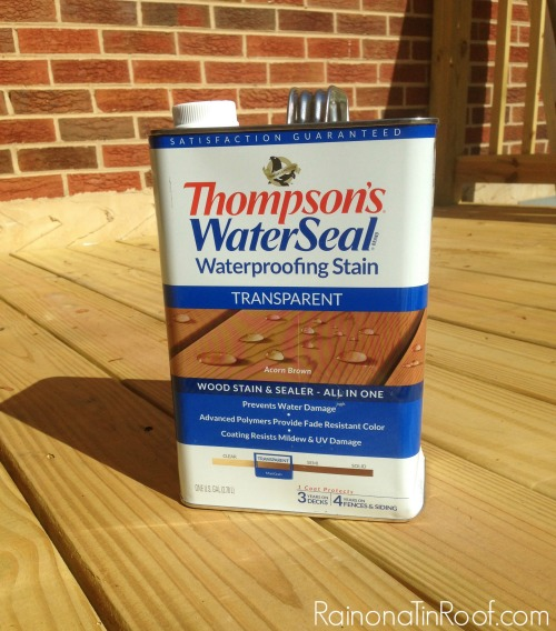 Staining Treated Wood - Outdoor wood stain for new decks - Rain on a Tin Roof