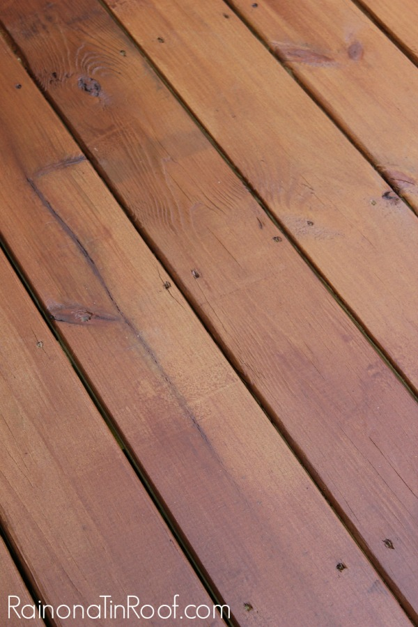 Staining Pressure Treated Lumber after two weeks - Rain on a Tin Roof