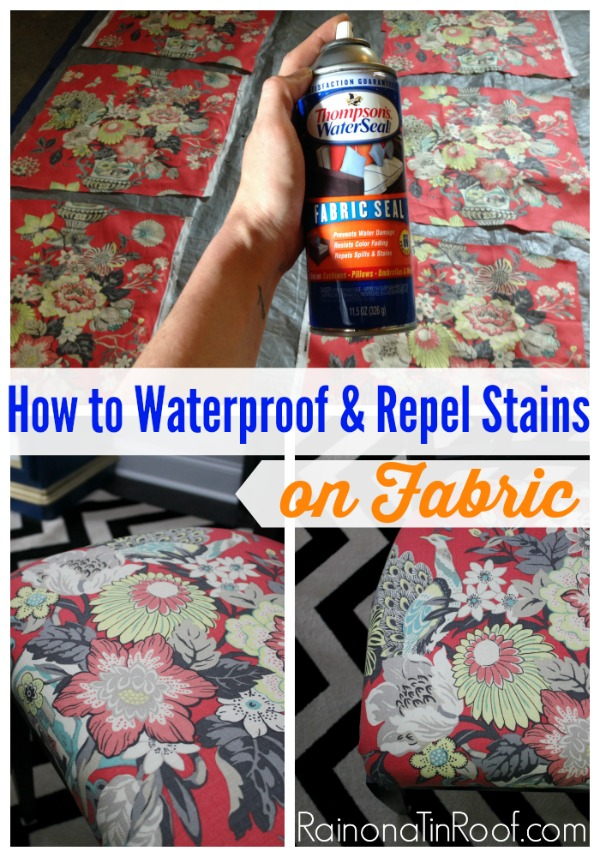 how to waterproof fabric with a waterproofing spray