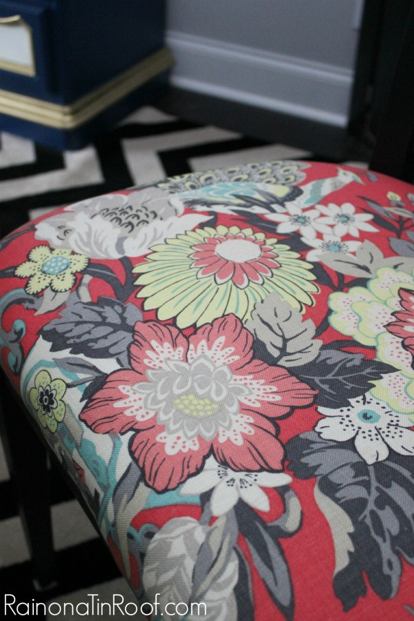 How to Make Interior Upholstery Fabric Stain Resistant - dining room chair upholstery that has been sealed.