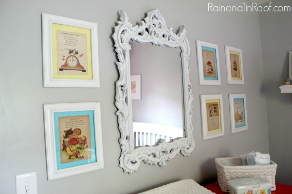 Nursery Ideas that won't break the bank via RainonaTinRoof.com #nurseryideas #nursery #diy