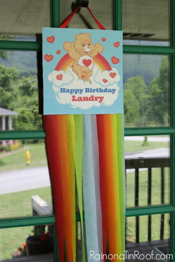 Care Bear and Rainbow Party via RainonaTinRoof.com #rainbow #party #kids #carebears #diy #partydecor