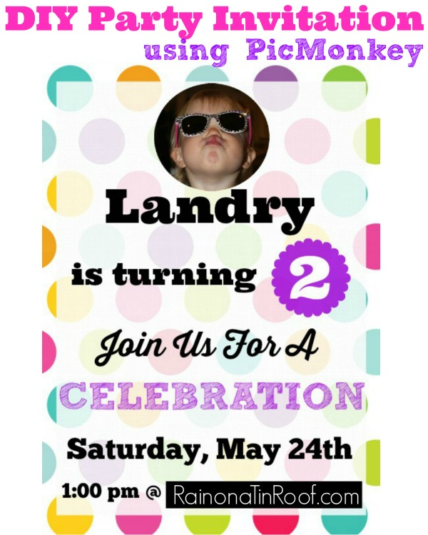 Picmonkey Tutorial for Party Invitations
