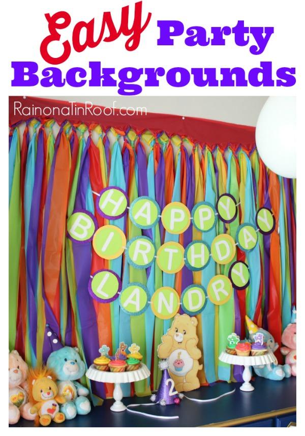 Easy DIY Rainbow Backdrop
