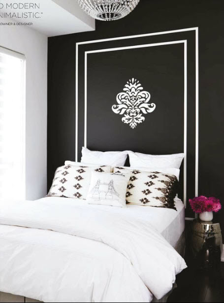 14 Real Life Bedroom Ideas Anyone Can Do - Paint a headboard on your wall.
