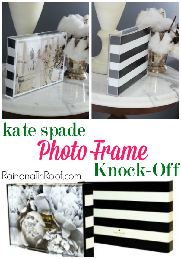 14 Black and White DIY Projects - Kate Spade Photo Frame Knock-Off