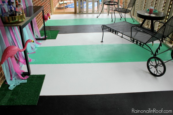 Painted Porch Floor via RainonaTinRoof.com #porch #summer #diy