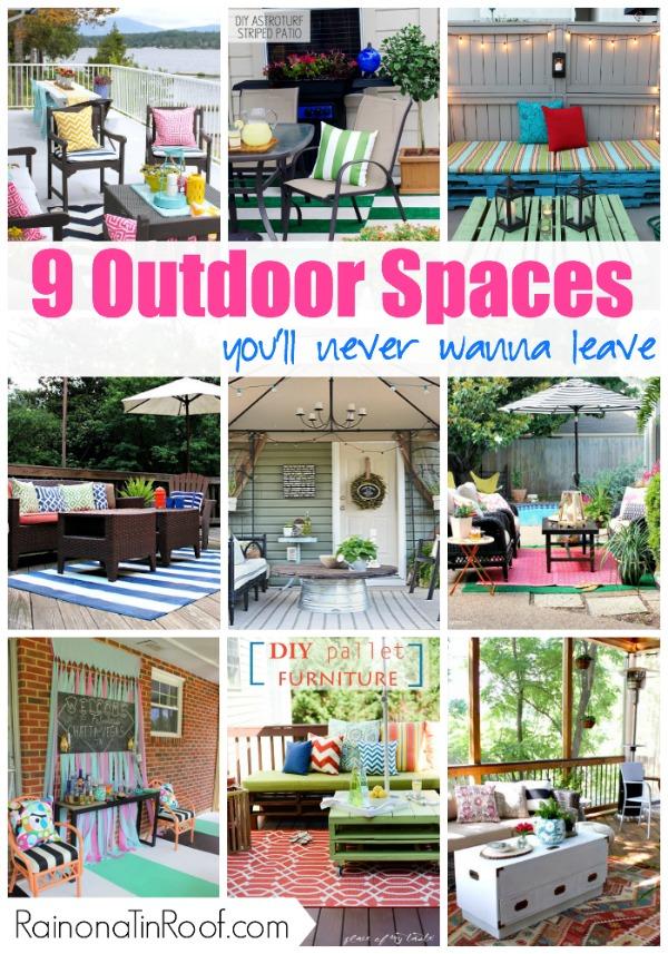 Outdoor Living Space Ideas | DIY Outdoor Decor | Outdoor Living Space on a Budget | Outdoor Living Room | Outdoor Living Space DIY