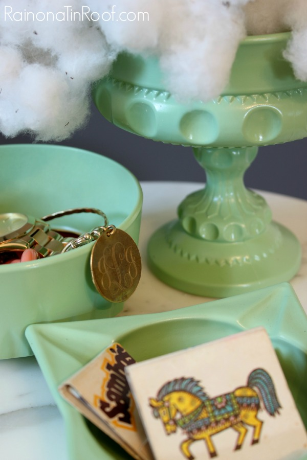 DIY Faux Jadeite from thrift store finds | Jadeite Dishes | DIY Jadeite | Thrift Store Crafts | Easy Crafts to Make and Sell | Glass Crafts