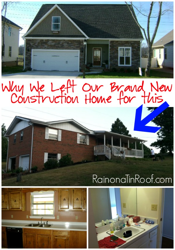 Why We Left Our Brand New Construction Home for a 70's Rancher via RainonaTinRoof.com #foreclosure #newconstruction