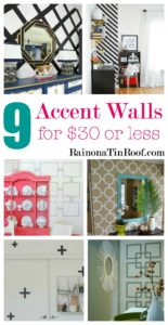 9 Accent Walls for $30 or Less via RainonaTinRoof.com #homedecor