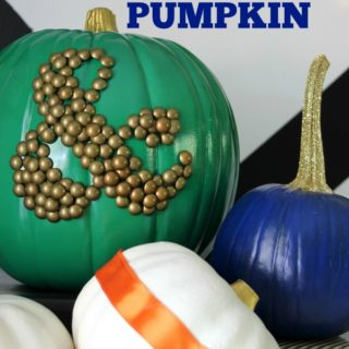 Ampersand Pumpkin via RainonaTinRoof.com #fallcrafts