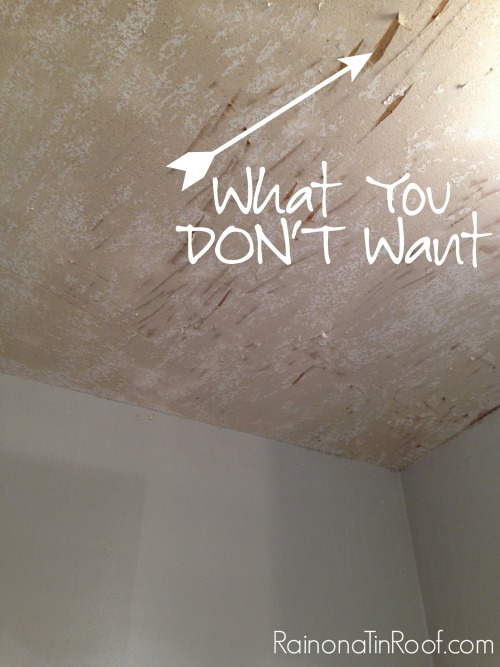 How To Remove Popcorn Ceiling And How Not To
