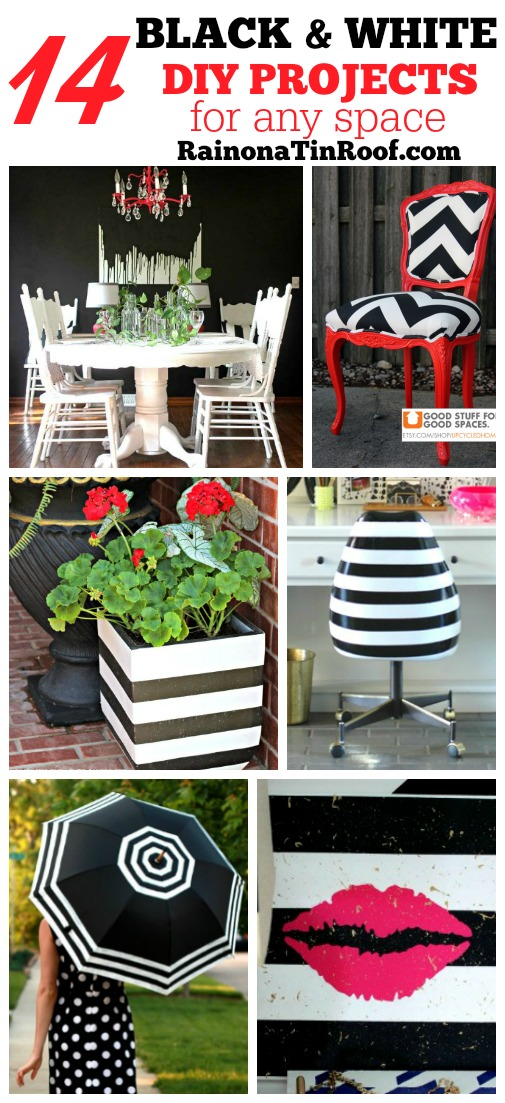 14 Black and White DIY Projects for Any Space