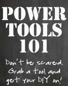 Great guide for the basics of using a drill and seeing what all it can do! Power Tools 101: How to Use a Drill via RainonaTinRoof.com